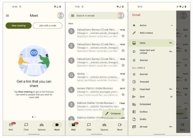 تطبيق Gmail هو الآخر يحصل على تصميم Material You