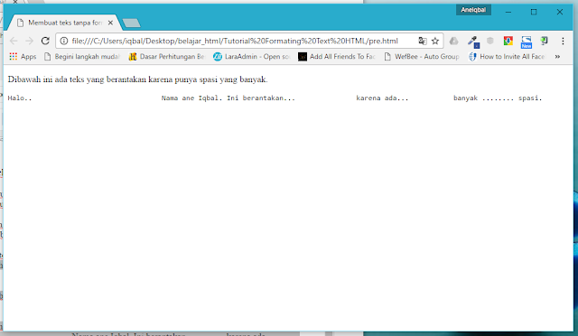 membuat teks di html