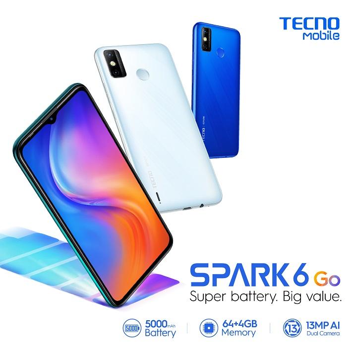 TECNO Spark 6 Go: 8.8 Sale