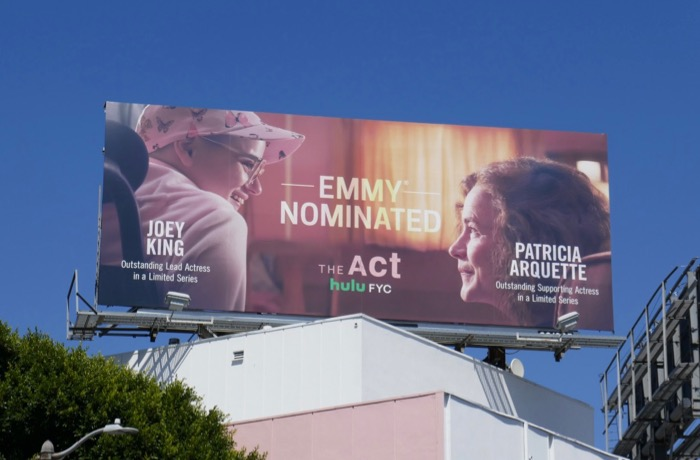 The Act Emmy nominated Hulu FYC billboard
