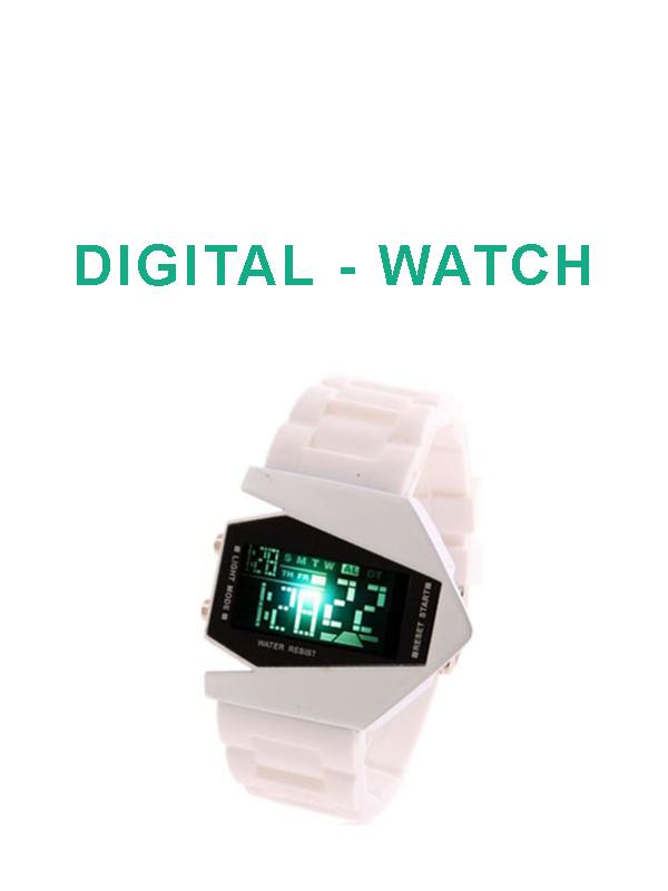 ساعة يد رقمية مضلعة