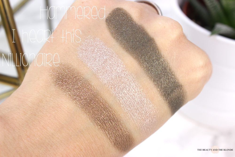 Colourpop Swatches Nillionaire I heart this Hammered
