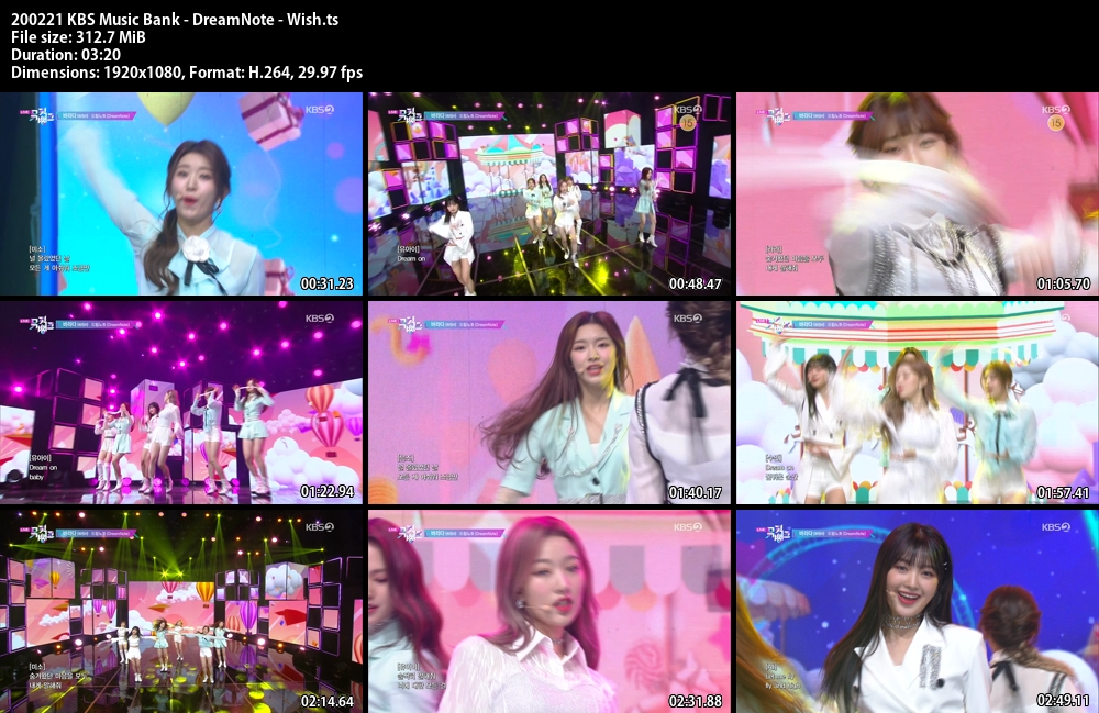 Music Bank ,1080p , Kpop, 2020 , DreamNote , Wish