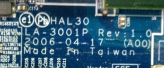 LA-3001P REV 1.0 U23 DELL M1210 Laptop Bios