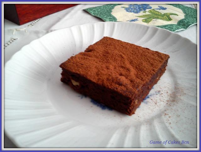 Porción de Brownie de chocolate y nueces