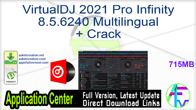 VirtualDJ 2021 Pro Infinity 8.5.6240 Multilingual + Crack