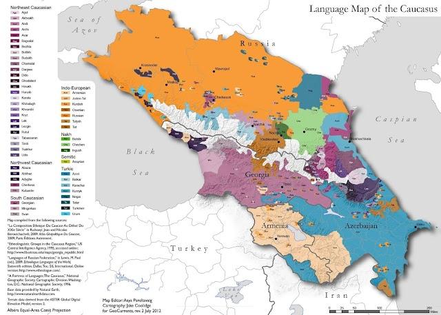 Языковая карта Европы