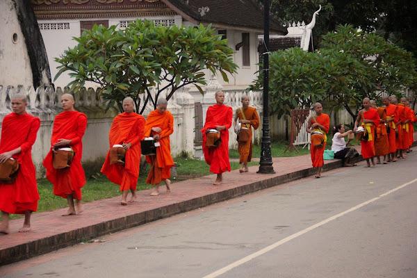 Almosen geben - Luang Prabang