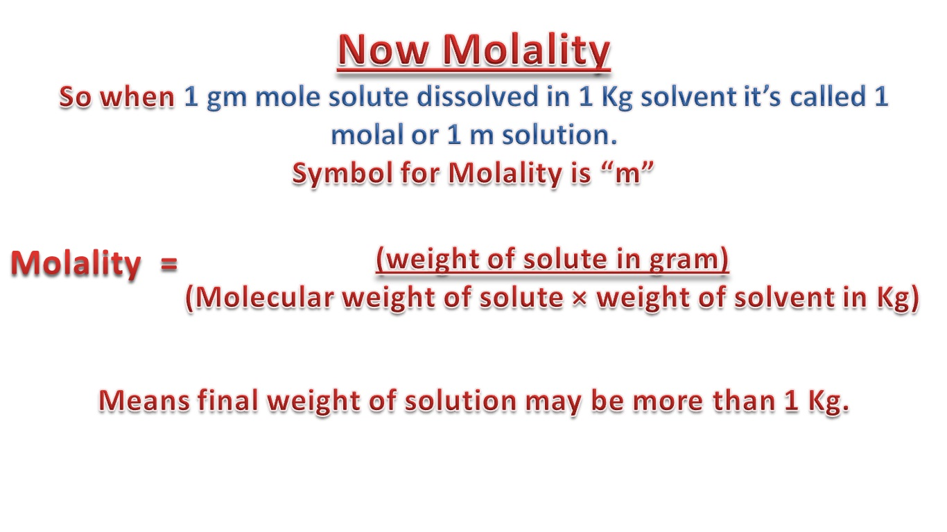 Molarity And Molality Formula