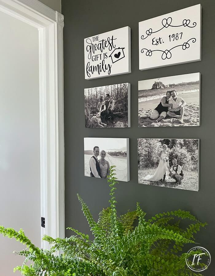 DIY Photo Canvas Gallery Wall