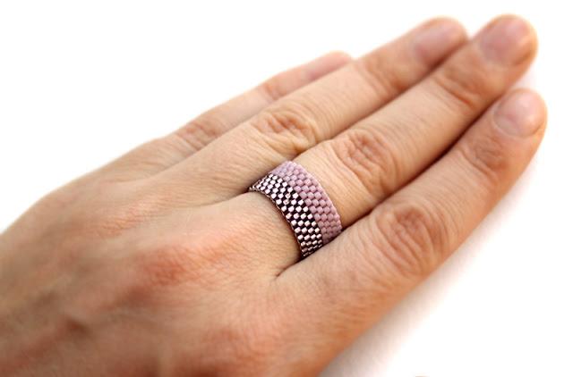 купить широкое женское кольцо интернет магазин бисерной бижутерии
