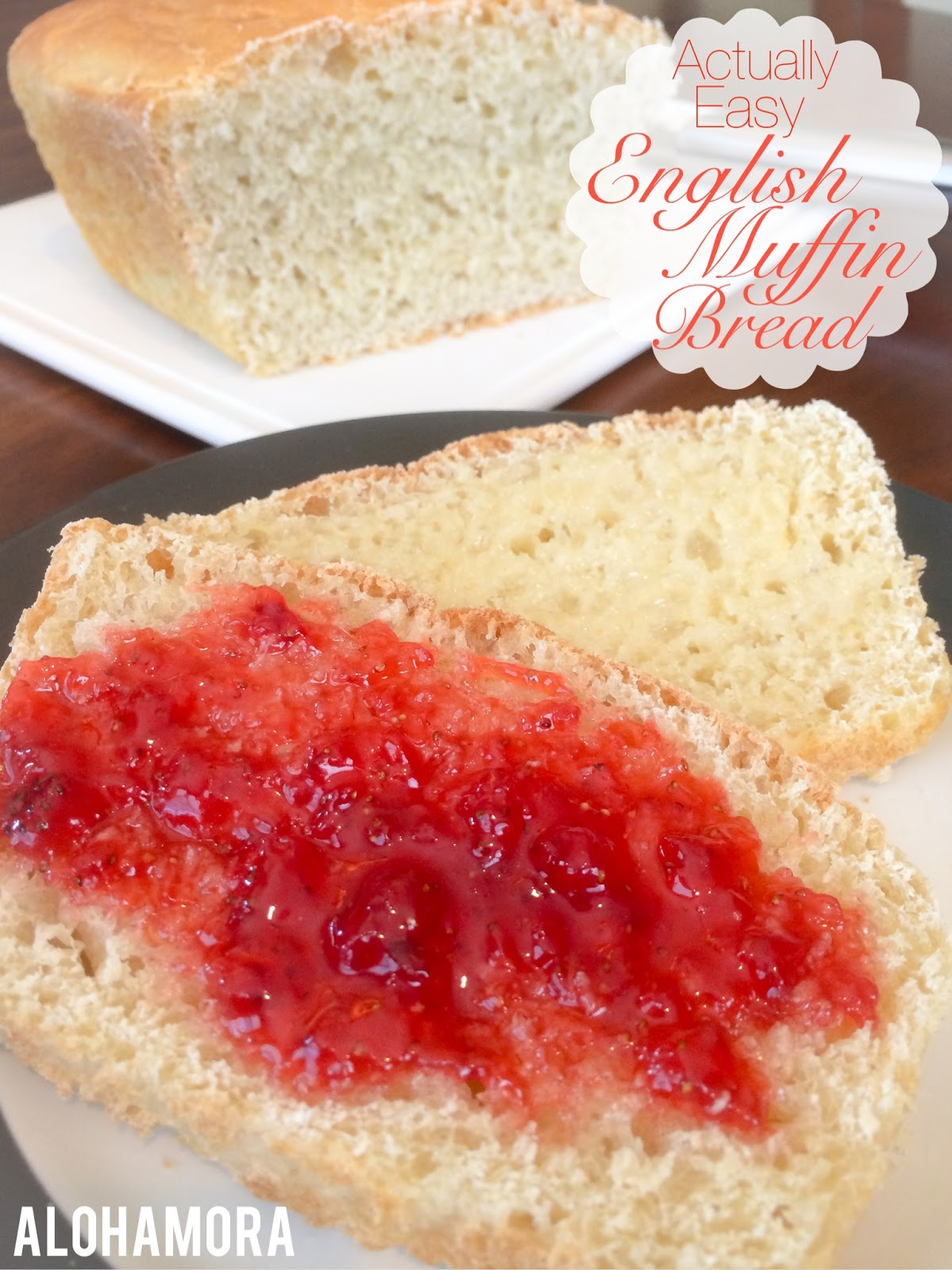 Actually easy and surpringsly simple English Muffin Bread to make from scratch and completely homemade.  This bread is so much cheaper than English Muffins, and it tastes a million times better.  Eat bread and butter just like the Weasleys in Harry Potter.  Alohamora Open a Book http://alohamoraopenabook.blogspot.com/