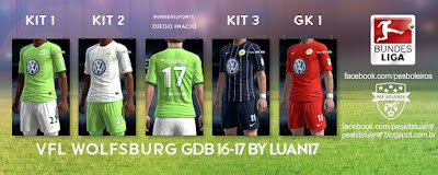 Kits VfL Wolfsburg Nike 2016-2017 Pes 2013 By Luan17