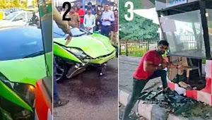 Viral Lamborghini Tabrak Pos Polisi, Pemiliknya Malah Selfie