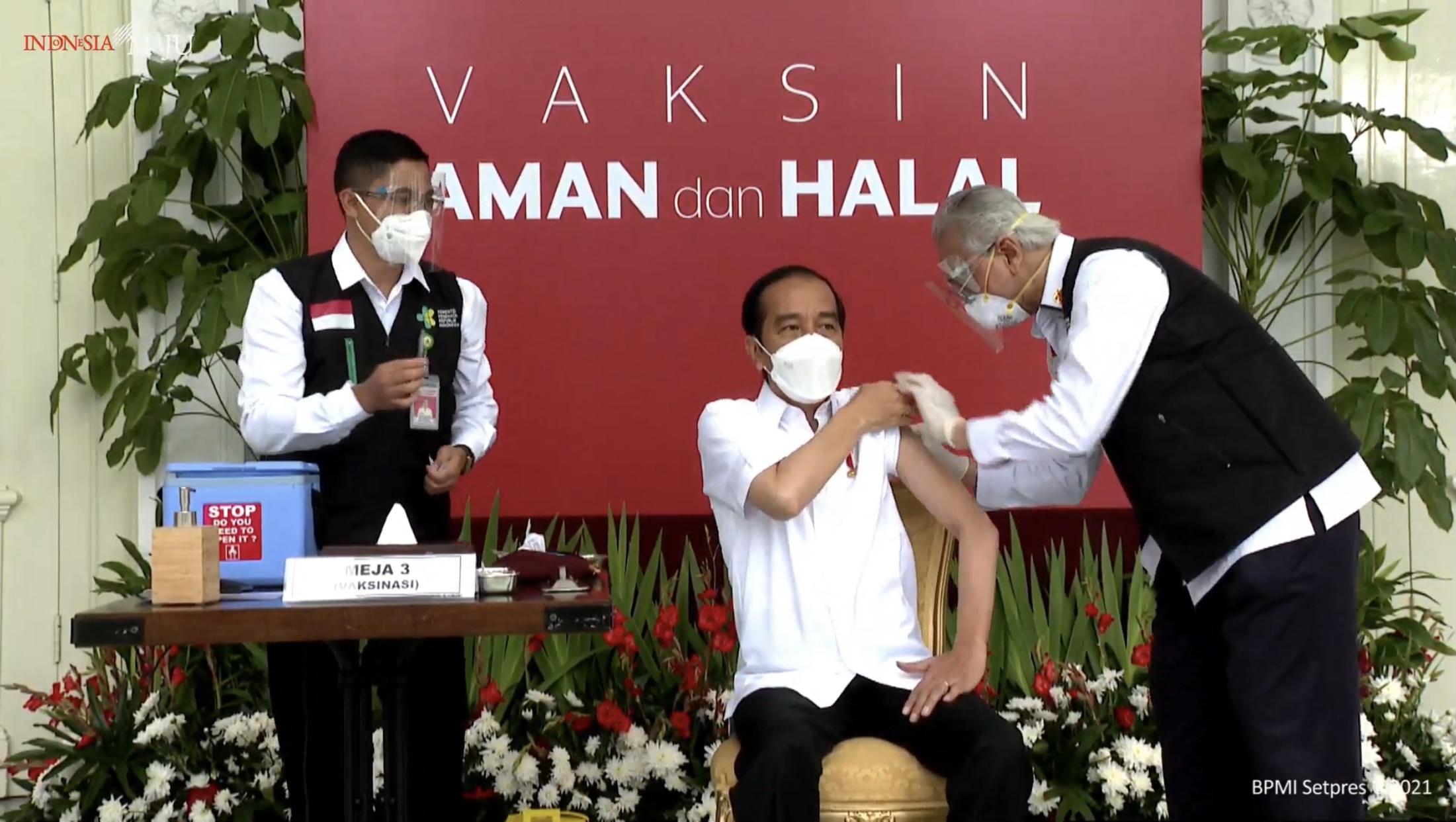 Ini Kata Jokowi Setelah Disuntik Vaksin Covid-19