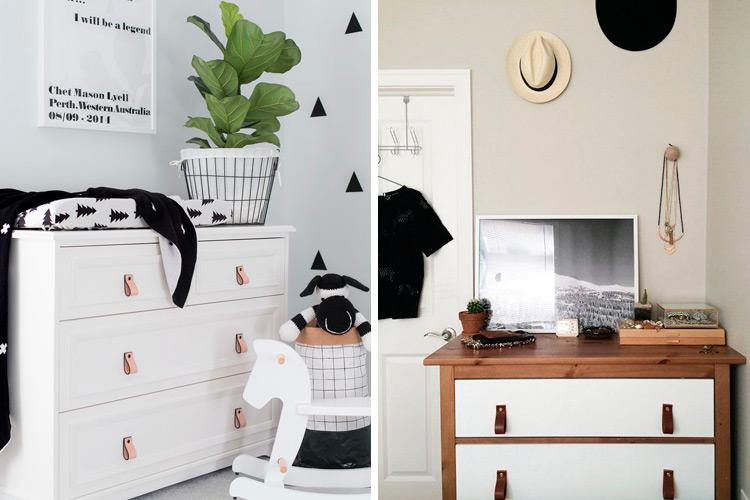 Marzua: Tiradores de cuero para renovar sus muebles.