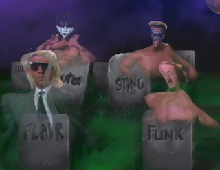 WCW Halloween Havoc 1989 - Spooky graphics for the main event