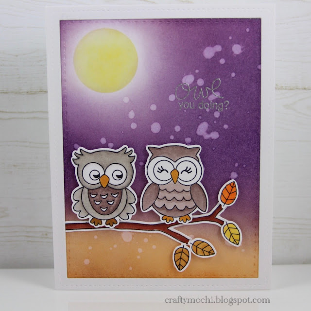 Owl Card by November Guest Designer Gladys Marcelino | What a Hoot Stamp set by Newton's Nook Designs #newtonsnook