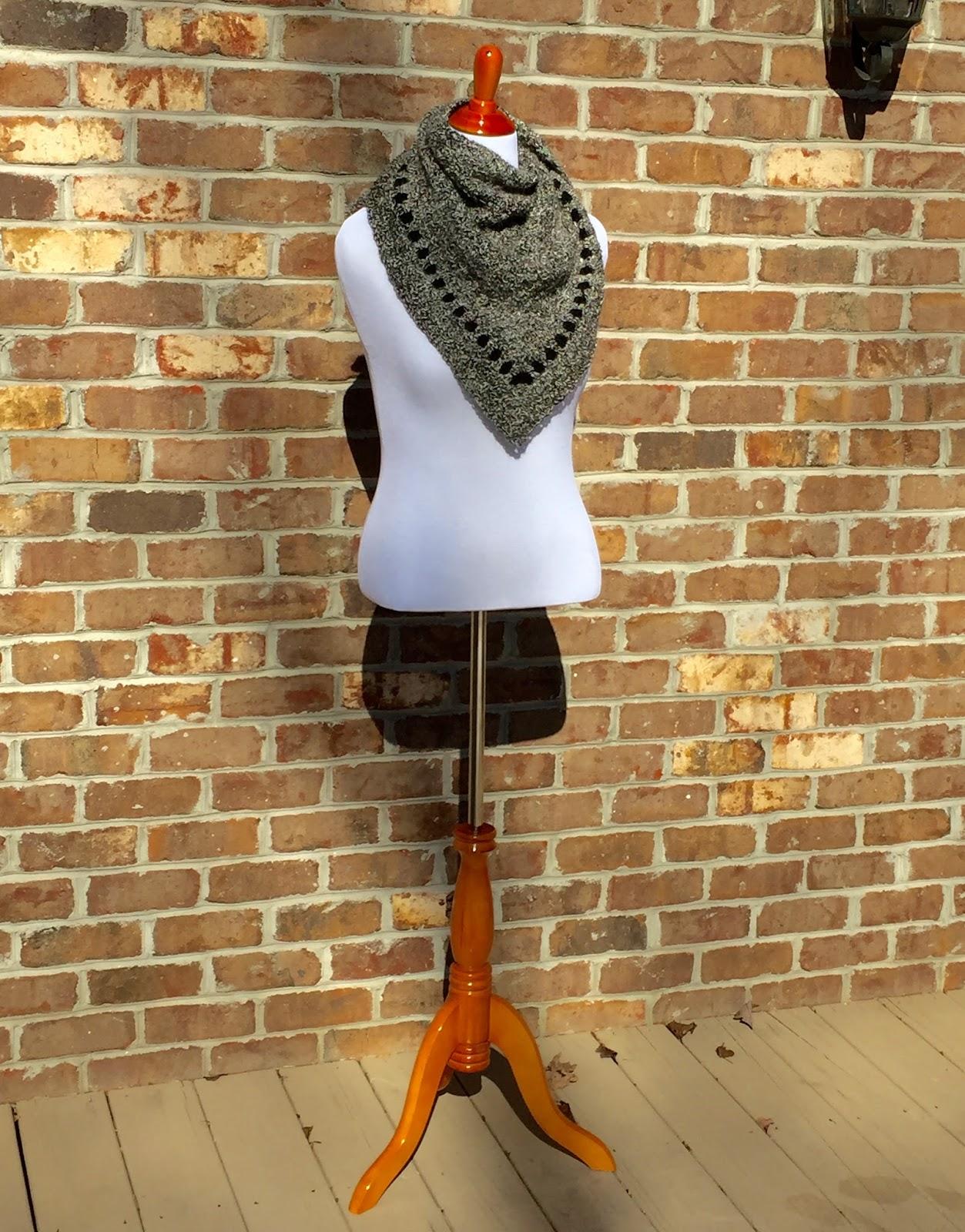 Half-Granny Crochet Scarf