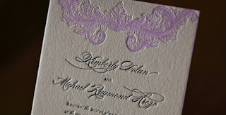 letterpress wedding invitation paper design ideas