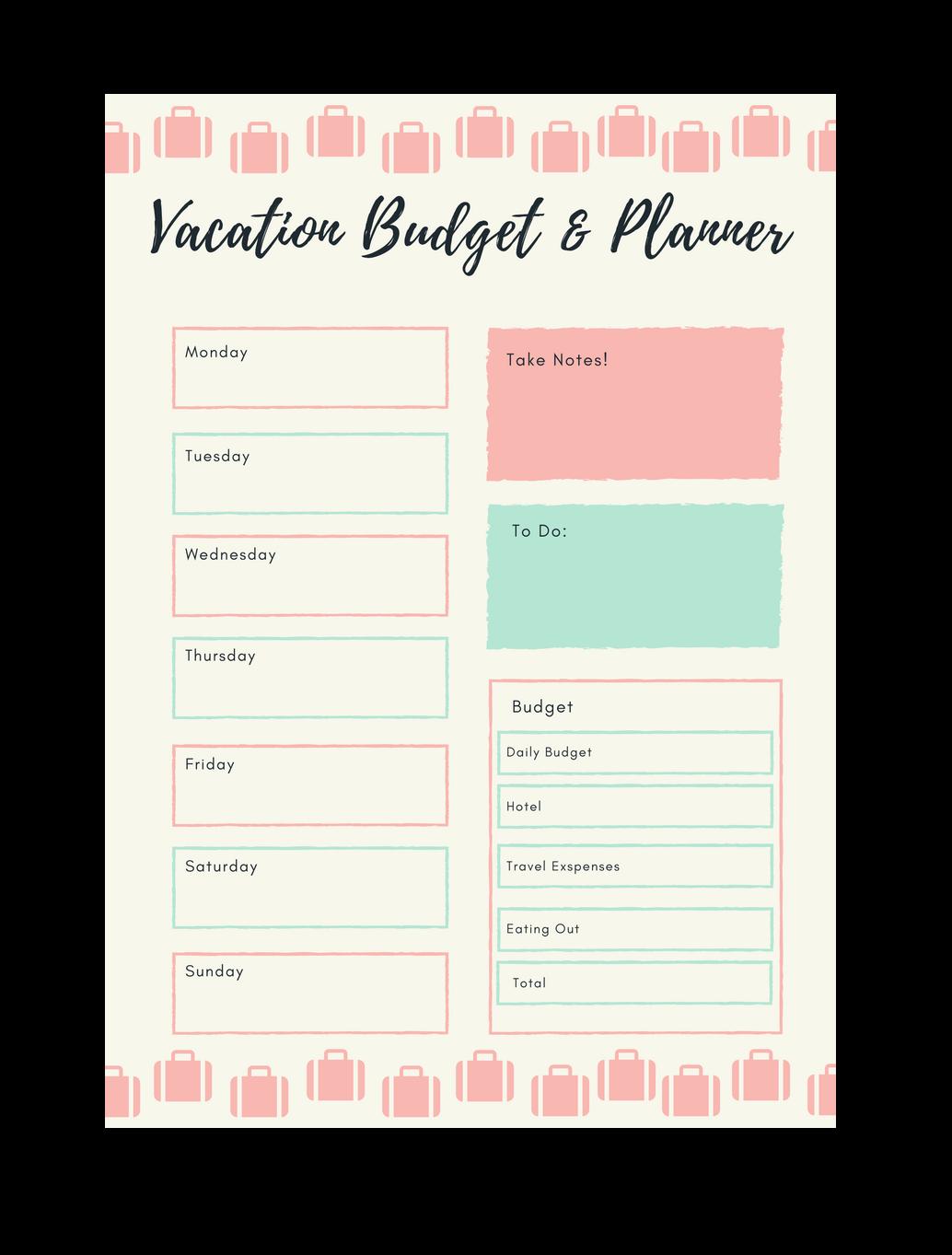 vacation budget mama of the drama