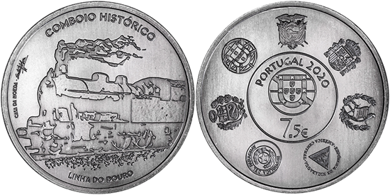 Portugal 7,5 euro 2020 - Douro Line Historical Train