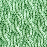 Reversible Cabled Brioche Stitch. Very easy to follow instructions.