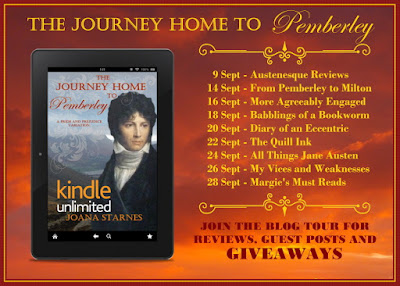 Blog Tour: The Journey Home to Pemberley by Joana Starnes