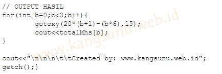 Cara Membuat Tabel di C++ dengan Array 2 Dimensi dan Gotoxy
