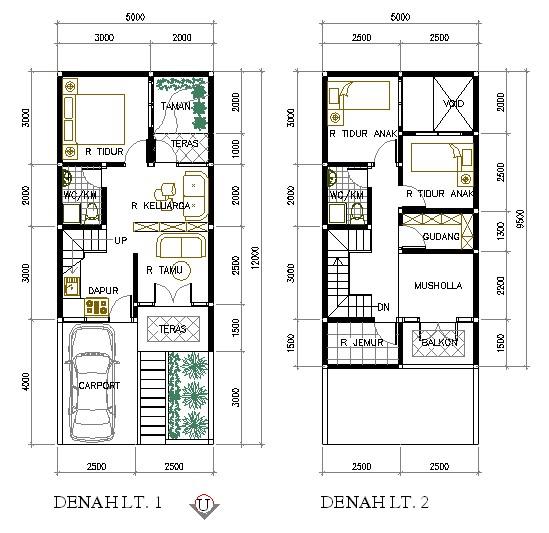Design Rumah 8x15 Meter 3 Kamar 4