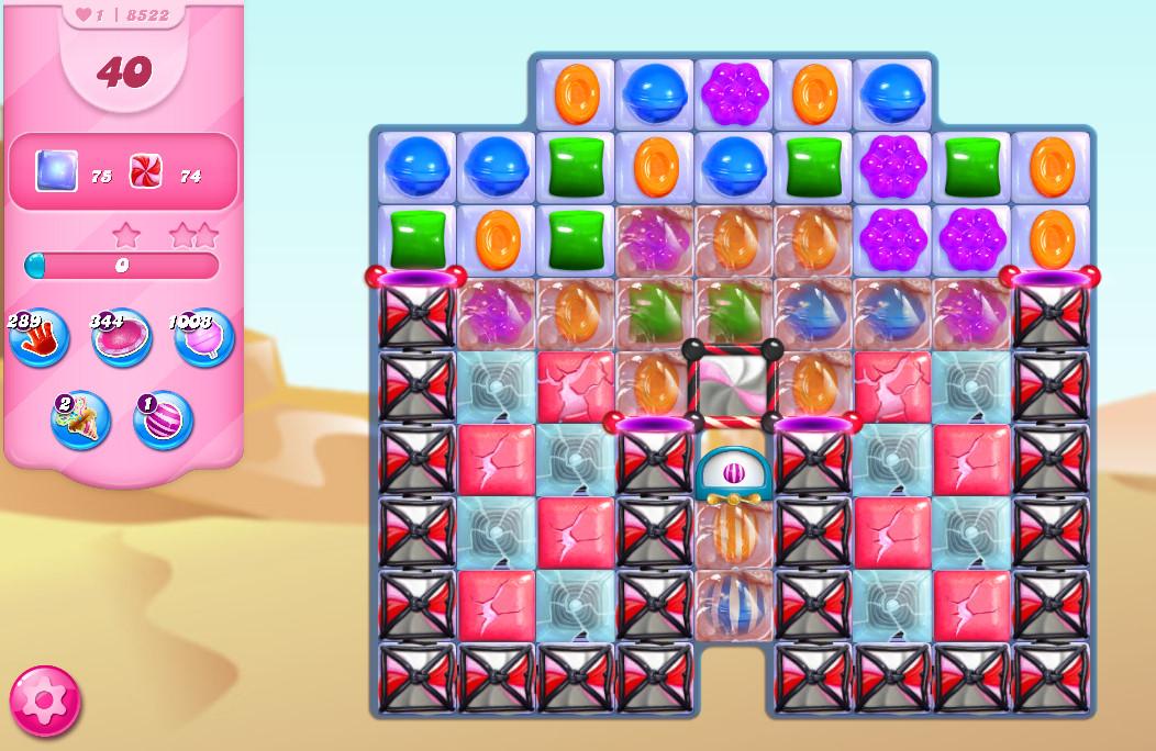 Candy Crush Saga level 8522