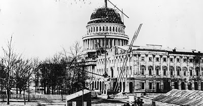 U.S. Capitol being built by Black men
