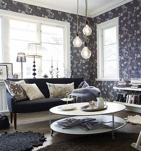 Deco Ideas : Black Sofa