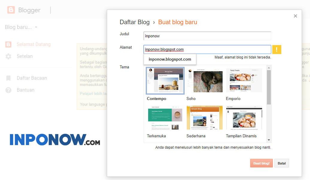 Cara Membuat Blog Gratis Dan Mudah Khusus Untuk Pemula