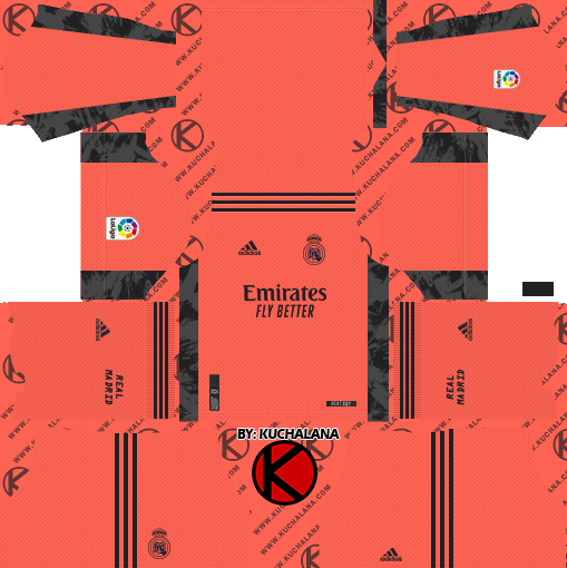 Real Madrid 2020-21 Kit - DLS2019