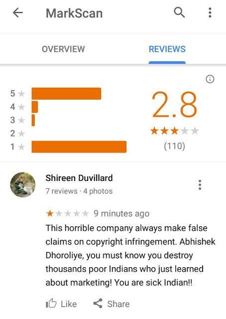 Fake company MarkScan India