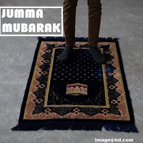 Man offering jumma Mubarak prayer alone DP.