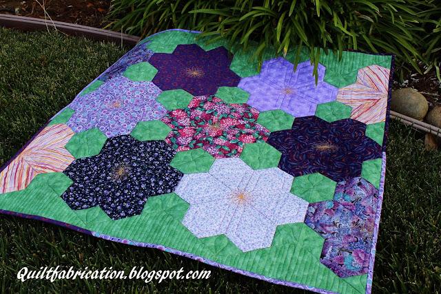 Jeweled Flower Garden quilt