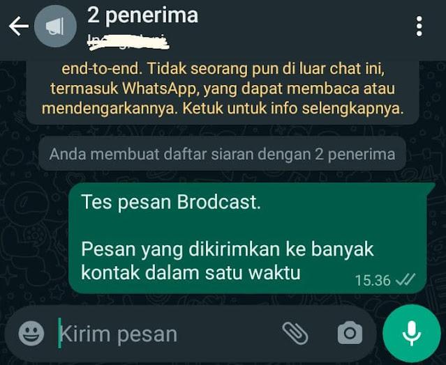 Pesan Broadcast di whatsapp