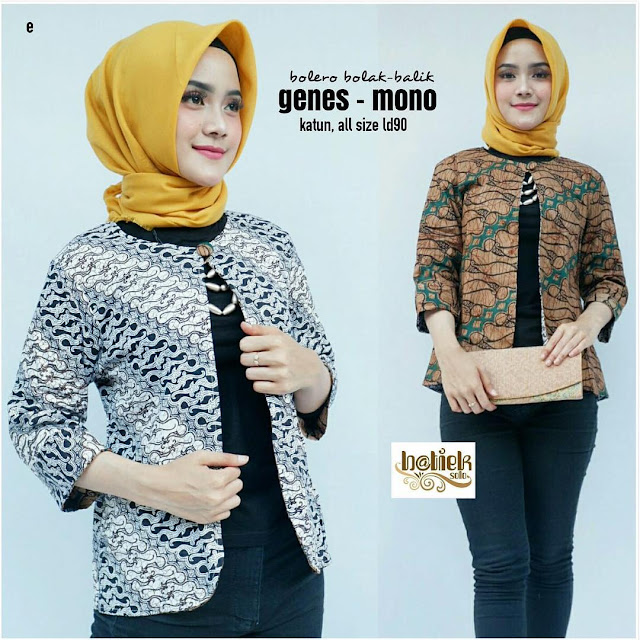 46 Model Tunik Batik Elegan Modern 2020
