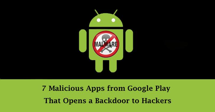 seven malicious apps