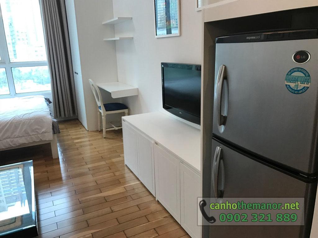 Cho thuê căn hộ 1PN full nội thất tầng 6 - The Manor 2 - tủ lạnh và tivi