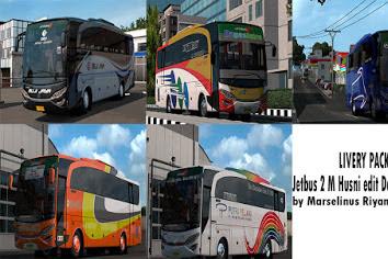 Livery Pack by Marselinus Riyan Untuk Jetbus 2 M Husni Edit Danis Cvt Diny