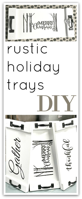 Pinterest pin for rustic trays