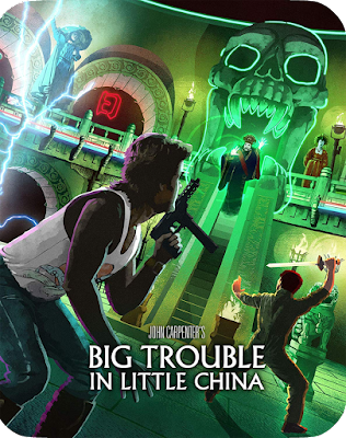 Artwork for Scream Factory's Limited Edition Steelbook of BIG TROUBLE IN LITTLE CHINA!