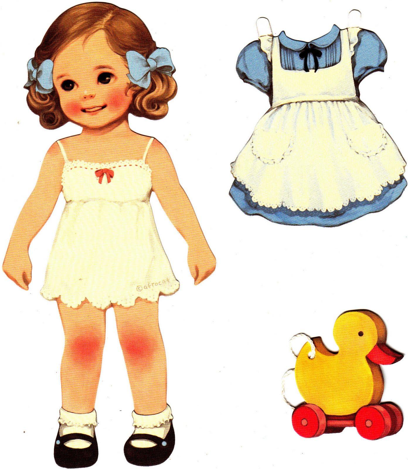 Little Girls, Paper Dolls, Paper, Dolls, Vintage Paper ...