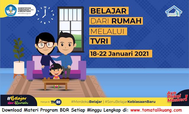 materi jawaban panduan program belajar dari rumah bdr tvri tanggal 18 19 20 21 22 januari 2021 pdf tomatalikuang.com