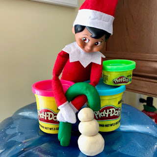 Elf on the Shelf with Play-Doh