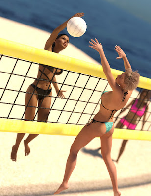 Beach Volleyball Poses for Genesis 3 Female(s)