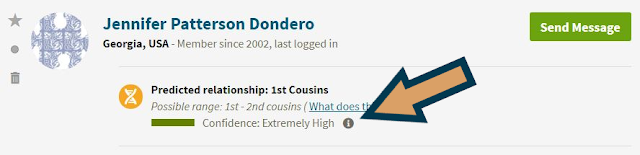 Finding the amount of shared dna between yourself and an AncestryDNA match is easy. Learn more, including how to use this information in this post from The Occasional Genealogist #genealogy #dna #geneticgenealogy #familyhistory #ancestrydan